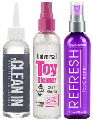 Sex toy spray on cleaner